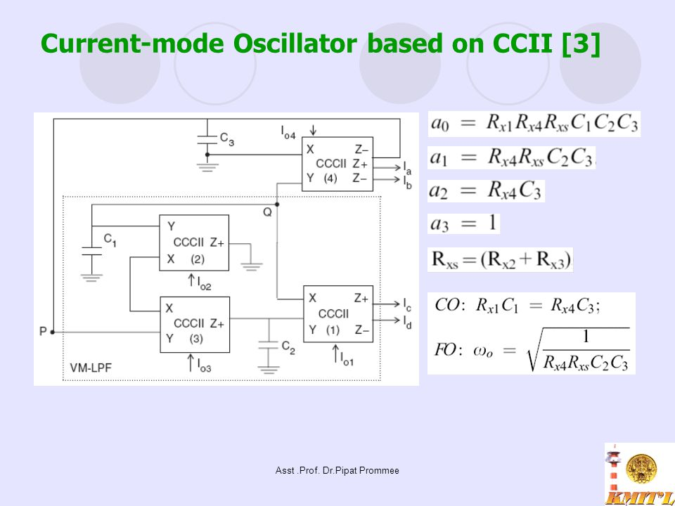 Current-mode Oscillator based on CCII [3]
